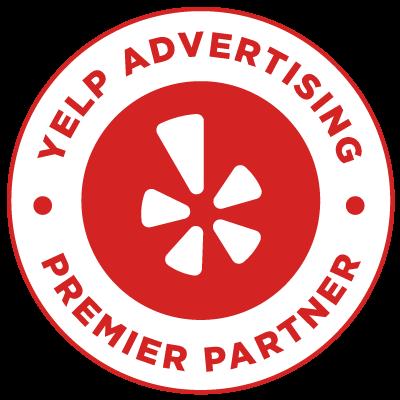 Badge - Yelp Advertising Premier Partner logo
